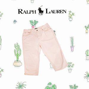 👖✨🌺 RALPH LAUREN Pink Pastel Crops